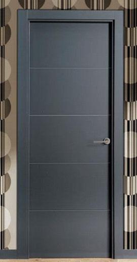 Puertas para tu hogar innova parquets maresme for Puerta interior gris